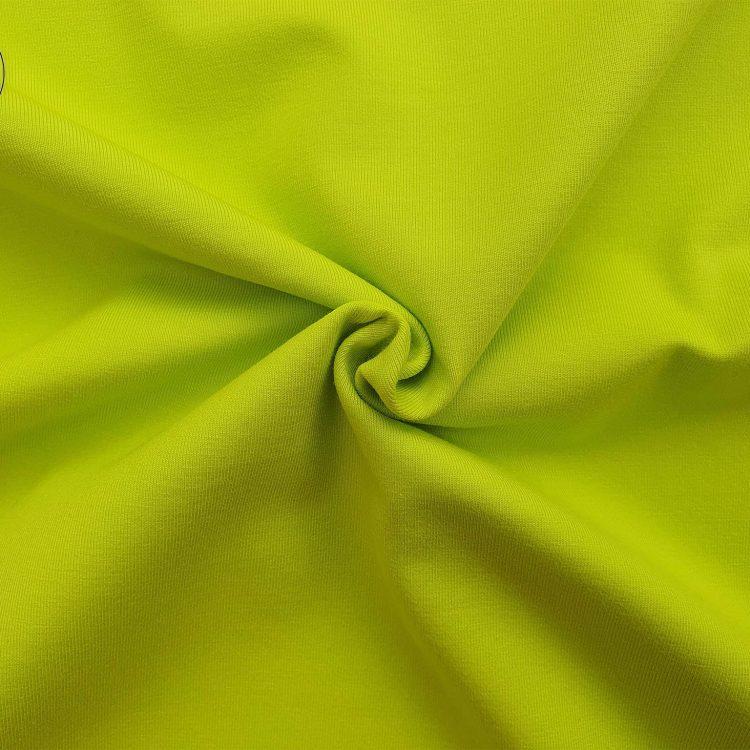 Chất vải áo thun cổ tròn ngắn tay cotton cao cấp xanh chuối