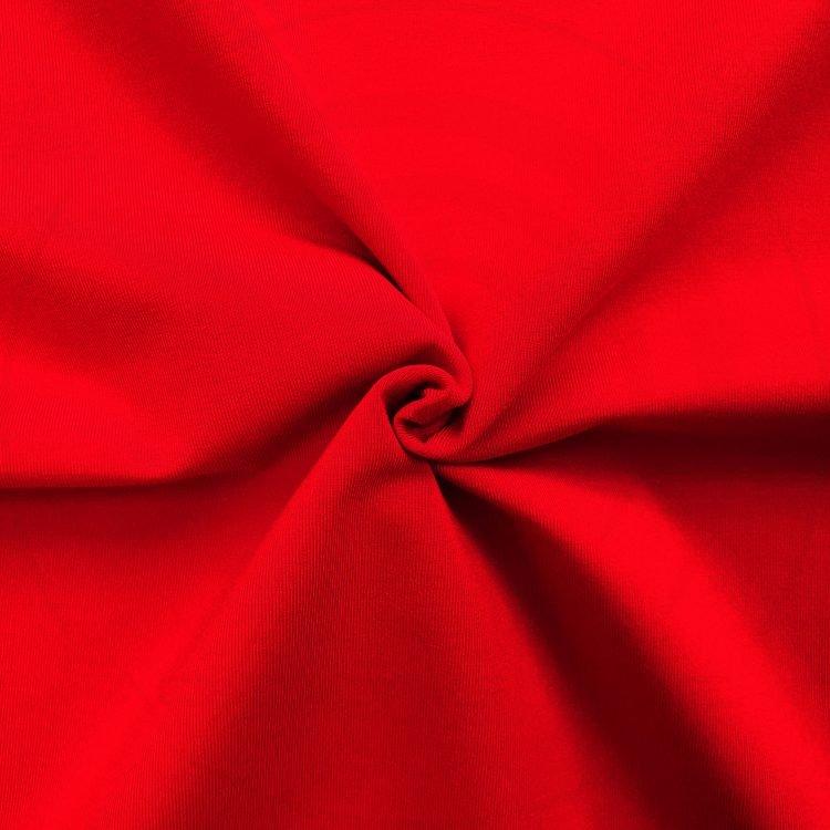 Chất vải áo thun cổ tròn tay lỡ cotton oversize màu đỏ tươi
