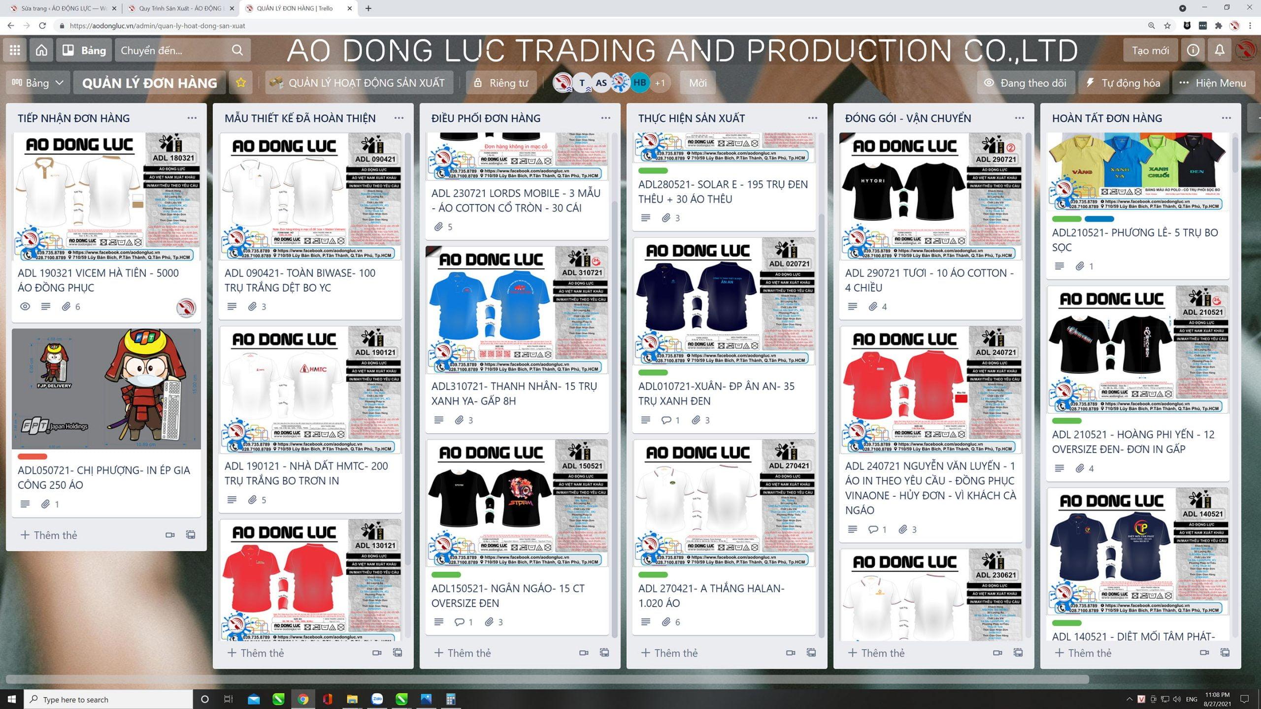 Hình ảnh quản lý đơn hàng bằng phần mềm điều phối thông tin tự động